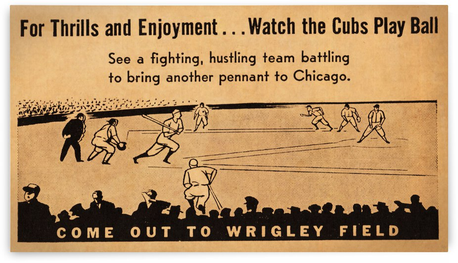 1941 Chicago Cubs Vintage Art by Row One Brand