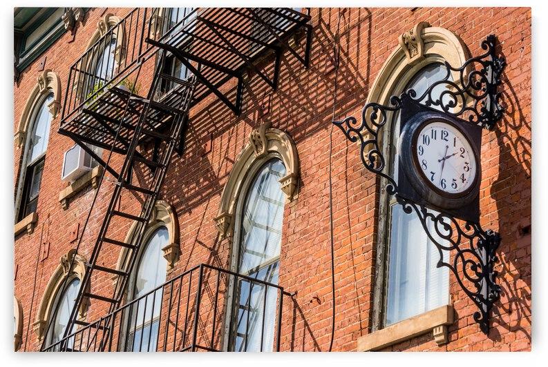 Antique Clock - Historic Covington - Kentucky by Gary Whitton