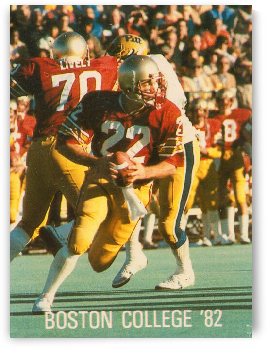 1982 Boston College Football Doug Flutie Poster by Row One Brand