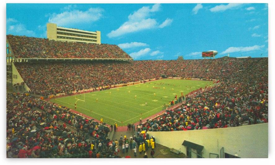 Seventies Owen Field Oklahoma Football Stadium Art by Row One Brand