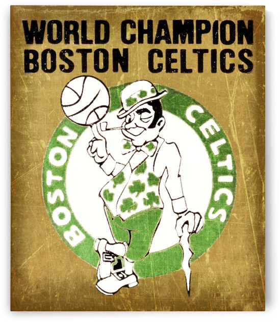 1981 Boston Celtics World Champion Basketball Art by Row One Brand