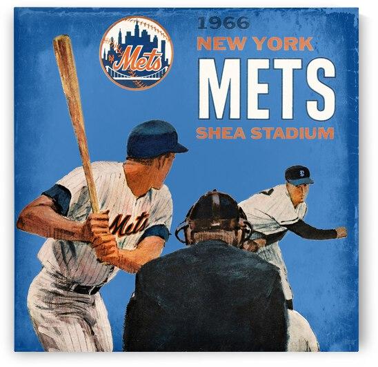 1966 New York Mets Scorecard Remix Art by Row One Brand