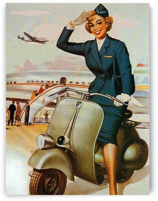 Saluting Stewardess by vintagesupreme