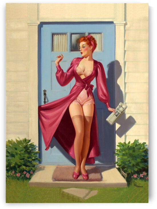 Sexy Pinup on the Doorstep by vintagesupreme
