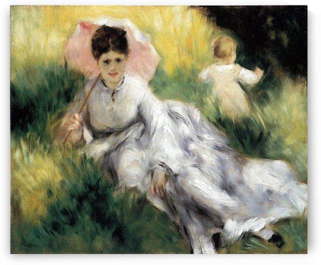 Woman with Parasol by Renoir by Renoir