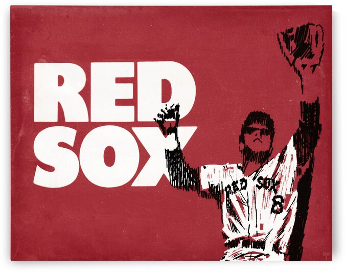 1972 Boston Red Sox Art Remix by Row One Brand
