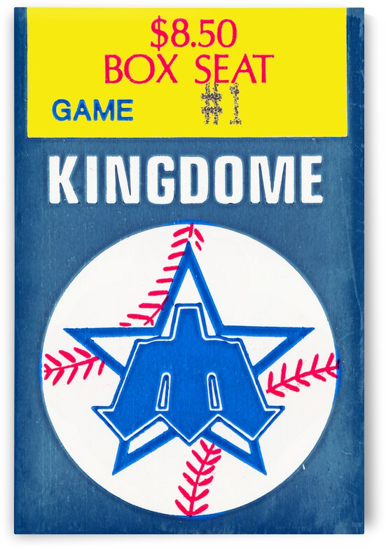 1985 Seattle Mariners Ticket Stub Remix Art by Row One Brand