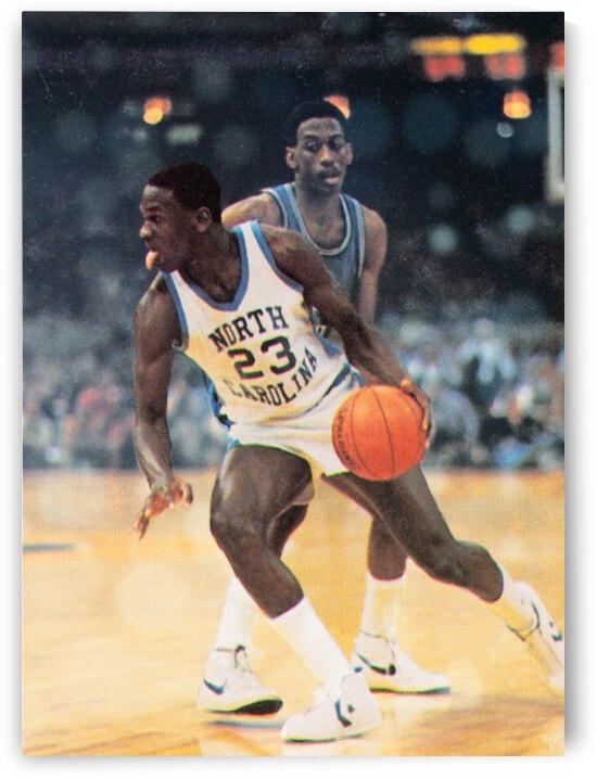 1982 Michael Jordan North Carolina Art by Row One Brand