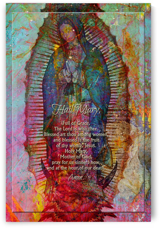 Mary In Textures of Metal And Rock w prayer by Lawrence Costales