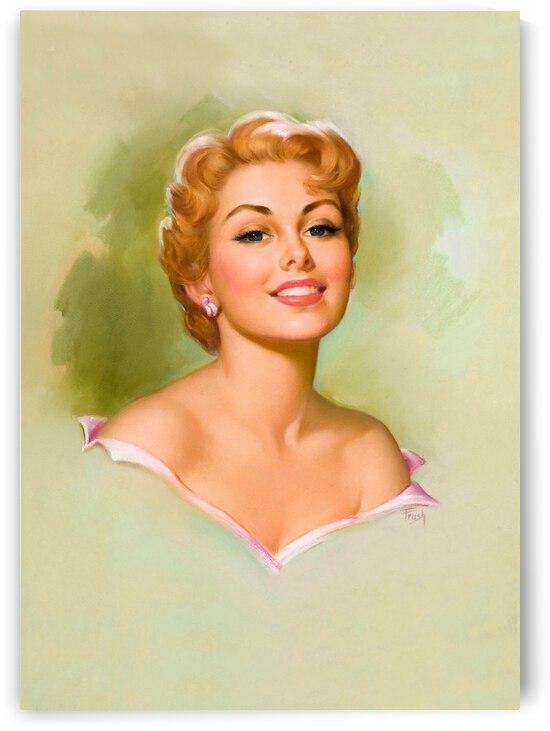 Blond Girl Portrait by vintagesupreme