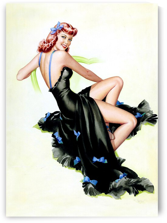 Girl in Black Dress by vintagesupreme