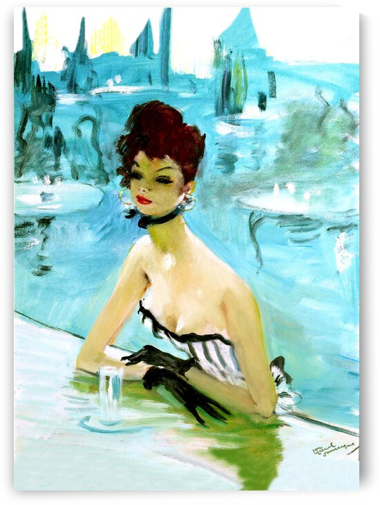 Woman on the pool by vintagesupreme