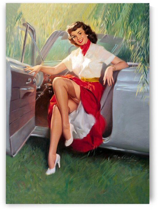 Posing on a New Convertible Car by vintagesupreme