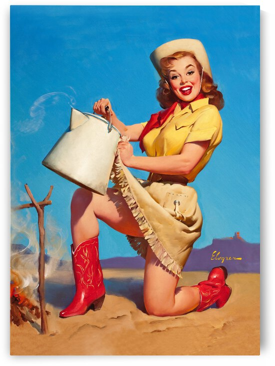 Cowgirl with Hot Water by vintagesupreme