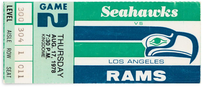 1978 LA Rams vs. Seattle Seahawks by Row One Brand