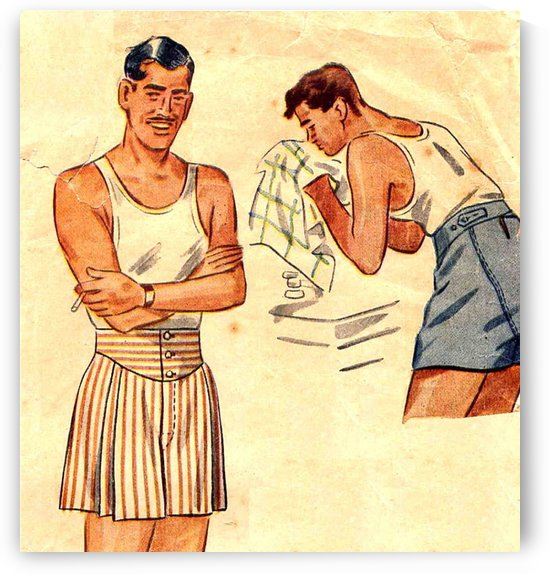 Clark Gable Underwear Mens Boxer Shorts by VINTAGE POSTER