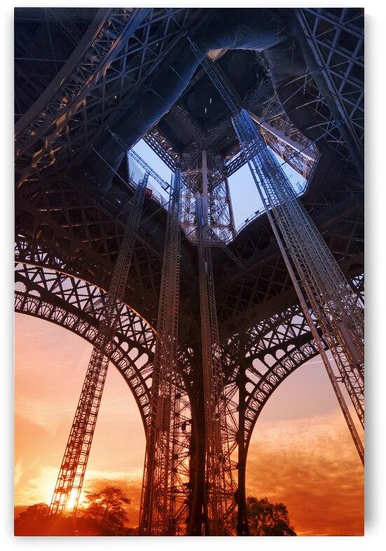 Under the Eiffel Tower by Hassan Bensliman