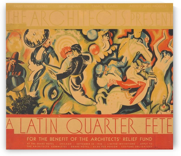 The Architects Present A Latin Quarter Fete by VINTAGE POSTER