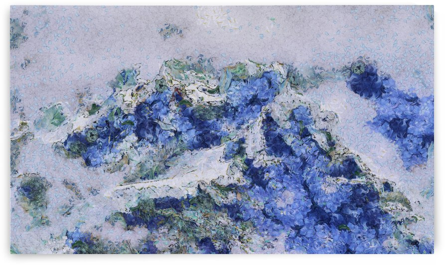 Mountains oil painting in Vincent van Gogh style. 1005 by ArtEastWest