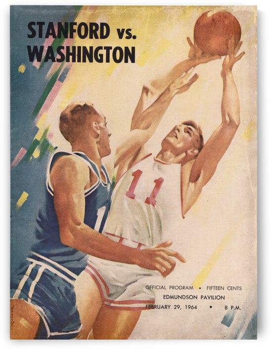 1964 Washington Huskies Basketball Program Lon Keller Art by Row One Brand