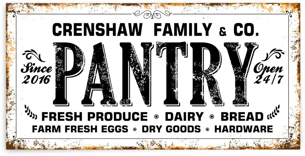 Your Family PANTRY - Personalize by Snowy Mountain Traders