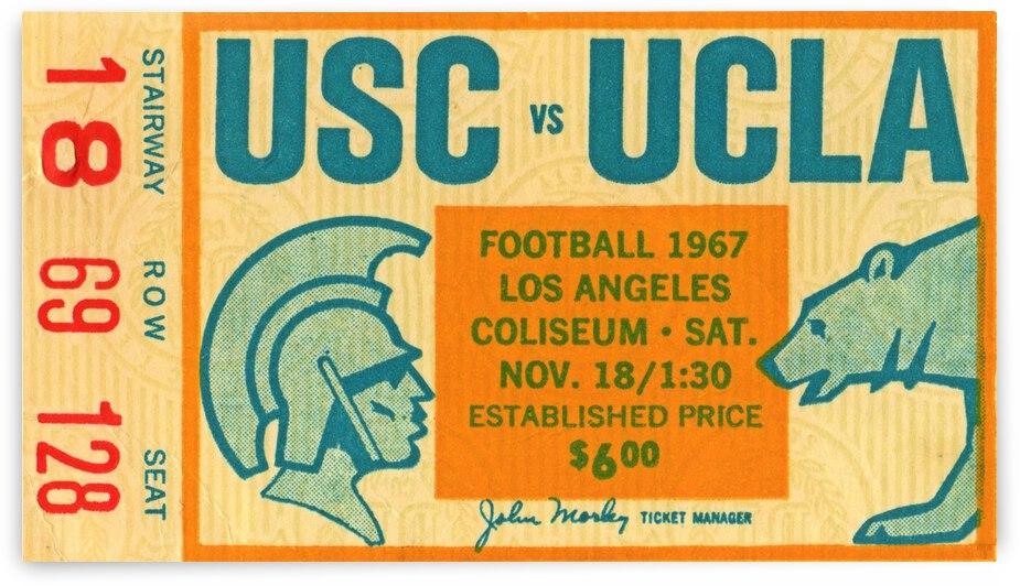 1967 USC vs. UCLA Football Ticket Canvas  by Row One Brand