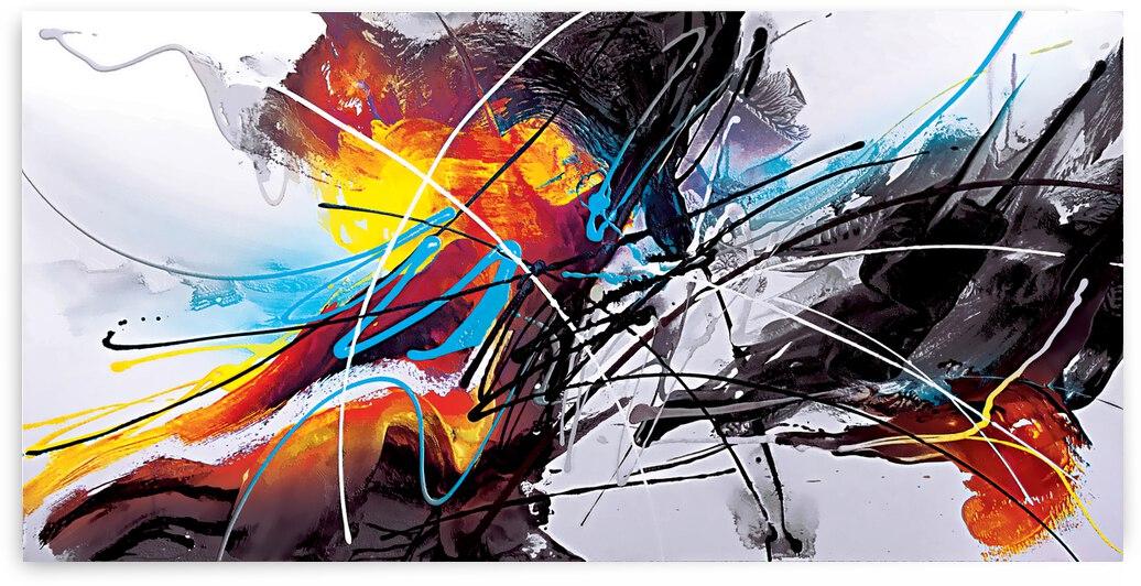 Abstract Art Britto - QB304 by SIDINEI BRITO