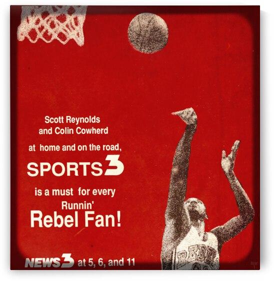1988 Las Vegas News 3 UNLV Basketball Ad by Row One Brand