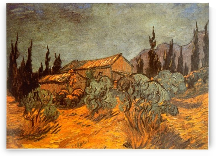 Wooden Sheds by Van Gogh by Van Gogh