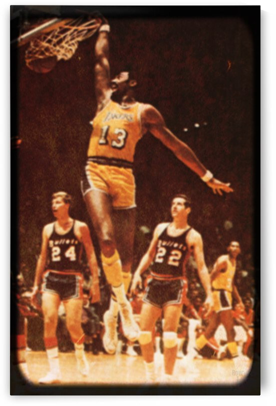 1967 LA Lakers Wilt Chamberlain Viewfinder by Row One Brand