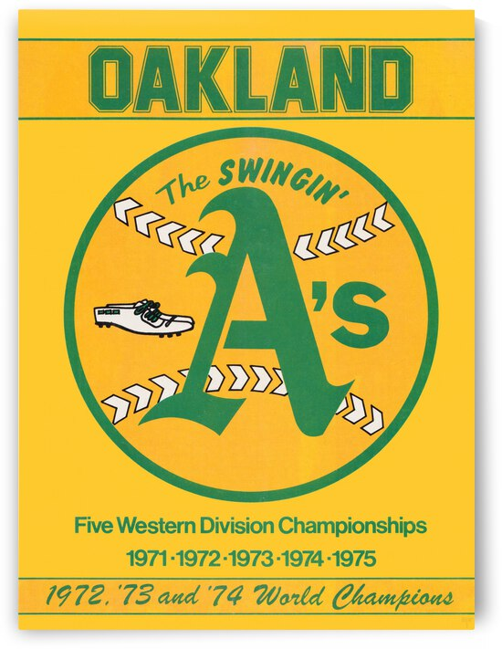 1979 Oakland Athletics Retro Poster by Row One Brand