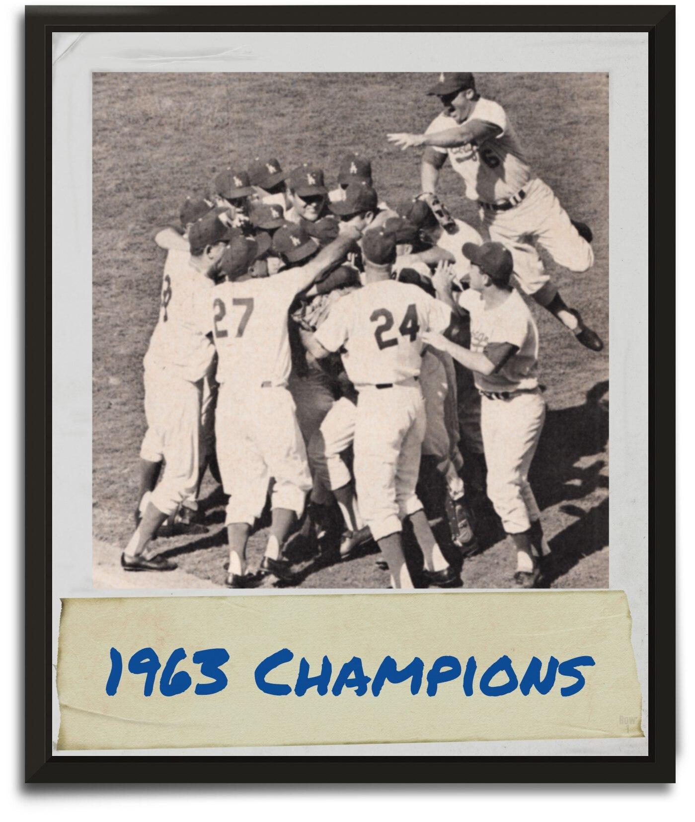1963 LA Dodgers World Series Celebration Art by Row One Brand