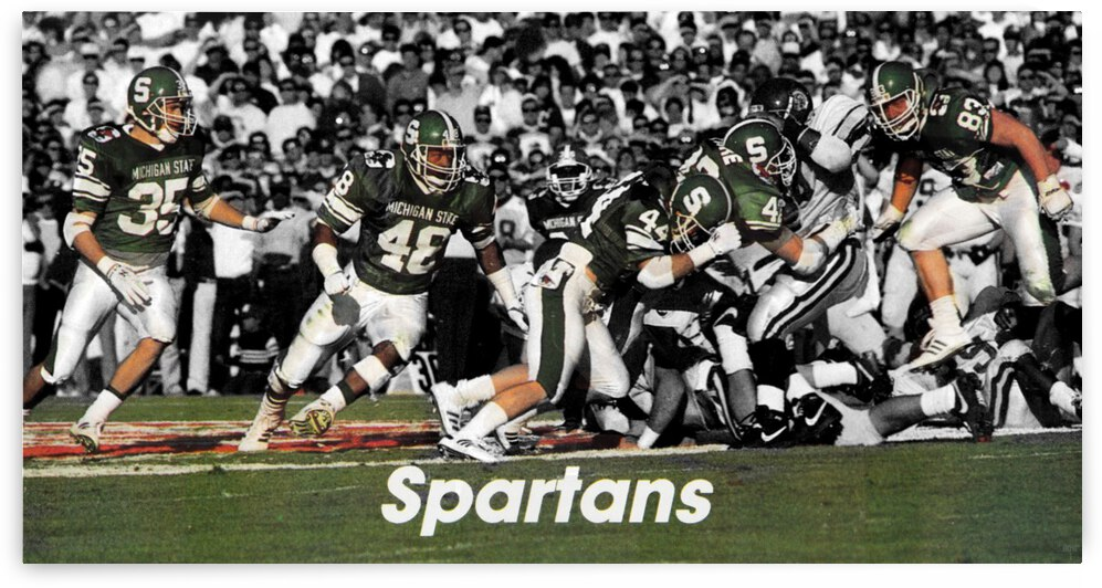 1987 Michigan State Football Rose Bowl Art by Row One Brand