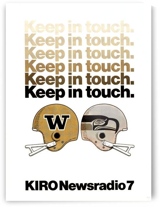 1976 KIRO Radio Seattle Seahawks Helmet Ad Poster by Row One Brand
