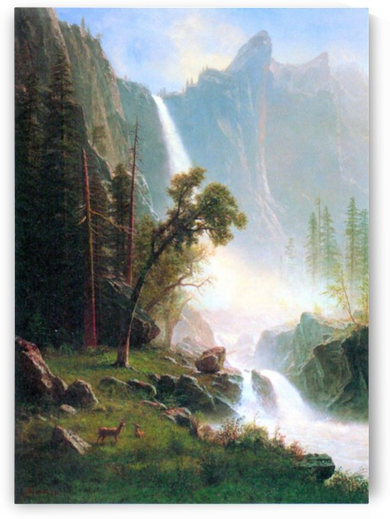 Yosemite Falls by Bierstadt by Bierstadt