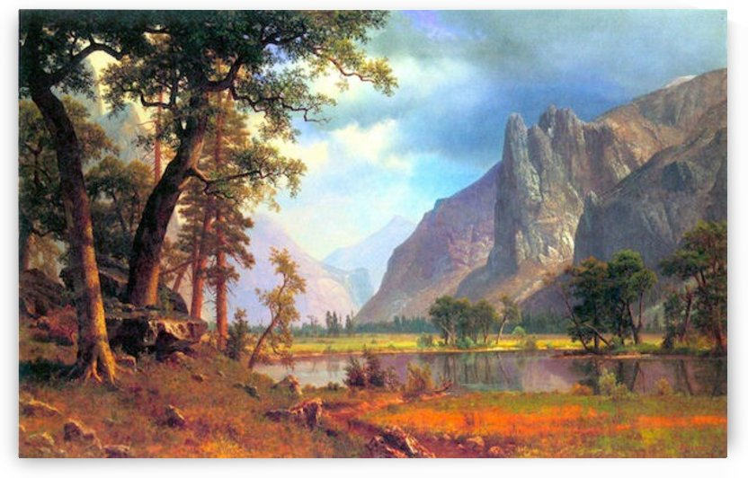 Yosemite Valley 2 by Bierstadt by Bierstadt