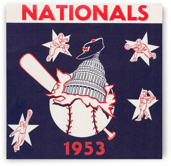 1953 Washington Nationals Art by Row One Brand