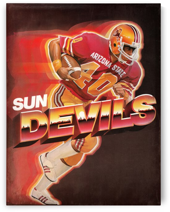 1983 Retro Arizona State Sun Devils Football Art by Row One Brand