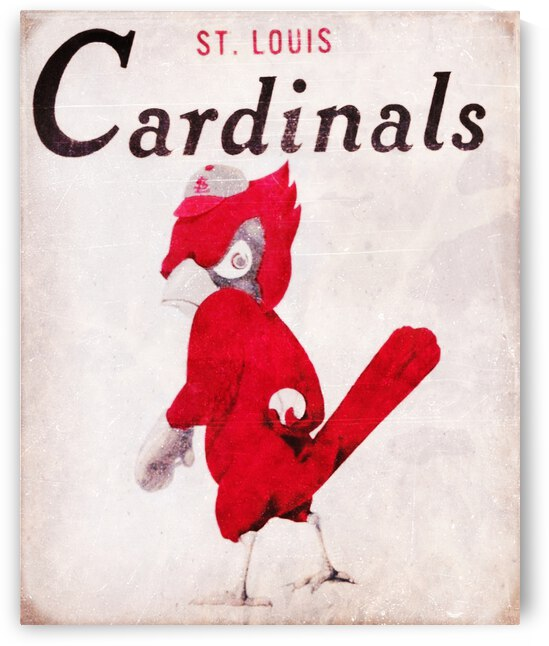 1956 Vintage Cardinals Art by Row One Brand