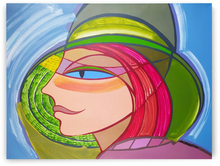 Woman with green hat  by Jose Miguel Perez Hernandez