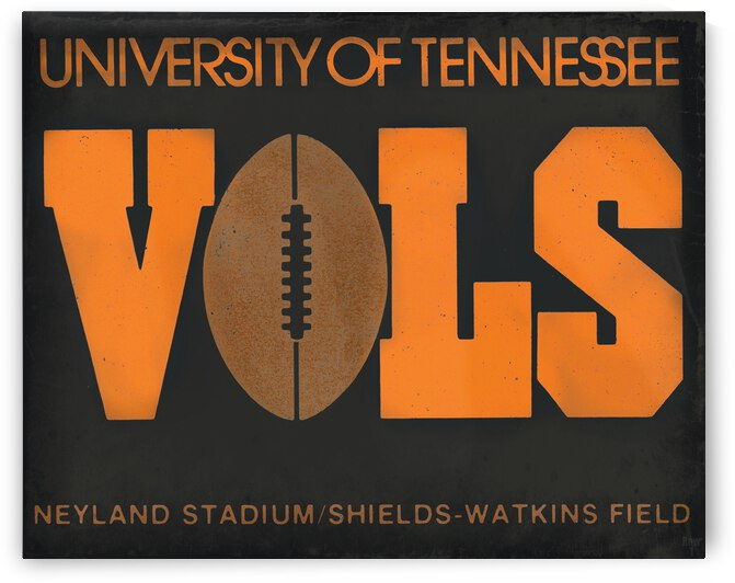 1979 Tennessee Vols Football Ticket Remix by Row One Brand