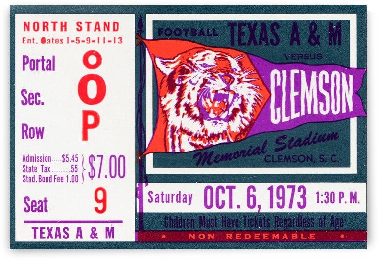 1973 Texas A&M vs. Clemson by Row One Brand
