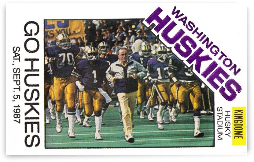 1987 Washington Huskies Football Ticket Remix Art by Row One Brand