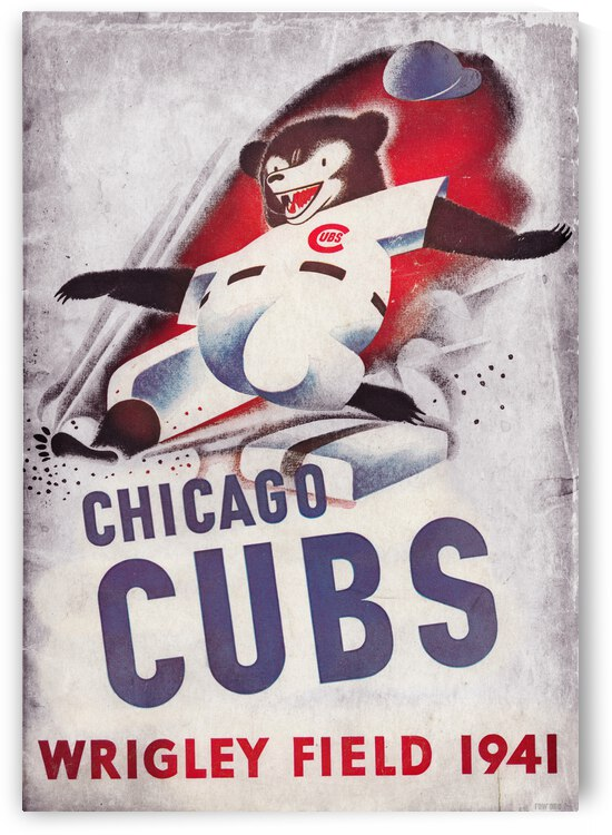 1941 Chicago Cubs Art Metal Sign by Row One Brand