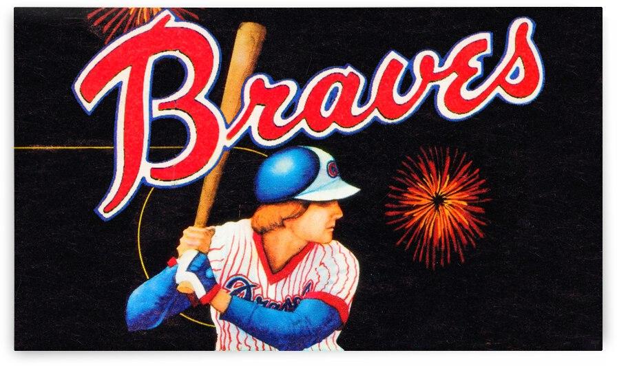 1978 Atlanta Braves Retro Art by Row One Brand