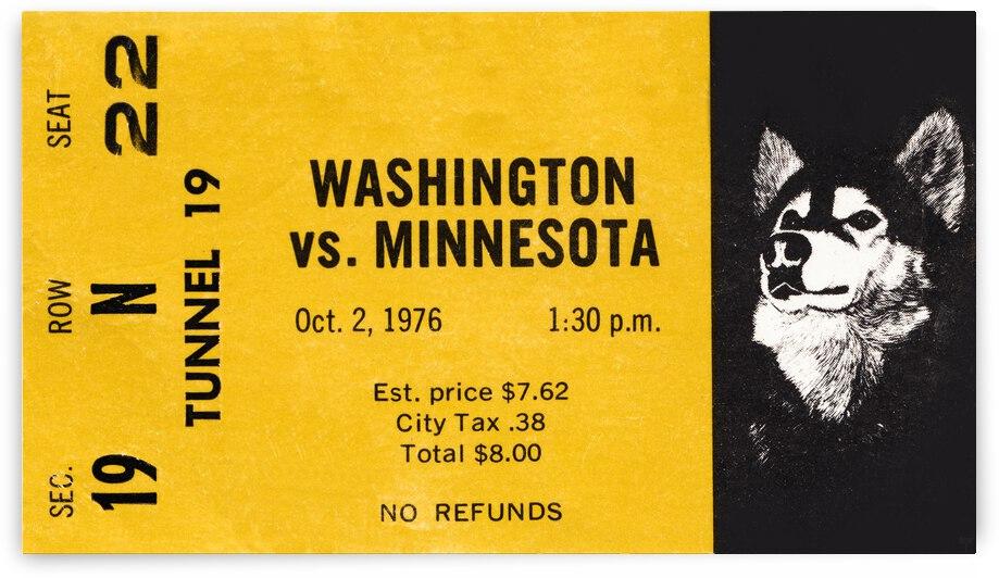 1976 Washington Huskies vs. Minnesota Golden Gophers by Row One Brand