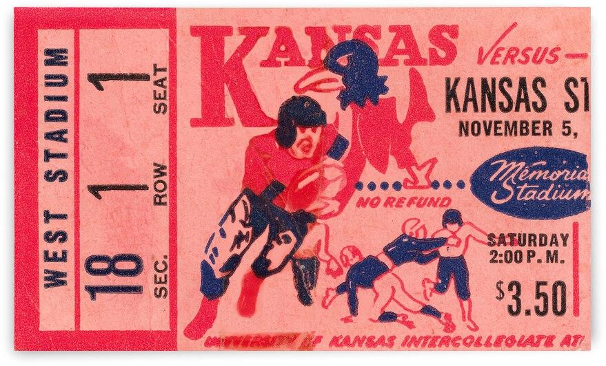 1955 Kansas Jayhawks vs. Kansas State Wildcats by Row One Brand