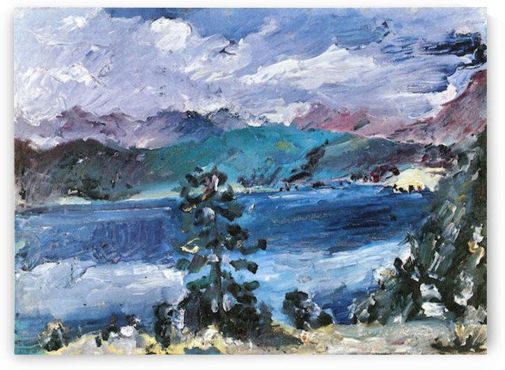 Walchensee with larch by Lovis Corinth by Lovis Corinth