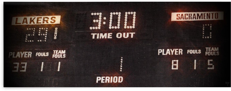 1987 LA Lakers vs. Kings Scoreboard Art by Row One Brand