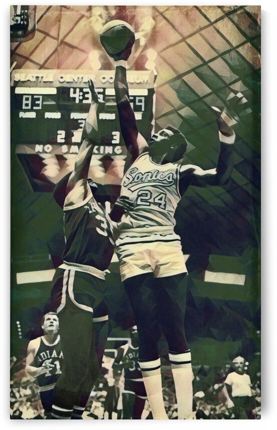 1972 Seattle Supersonics Spencer Haywood Art by Row One Brand